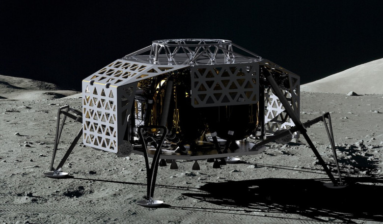 ALINA, the Autonomous Landing and Navigation Module, the first private spacecraft built by PTScientists to transport and land their two rovers safely on the moon. Image: PTScientists