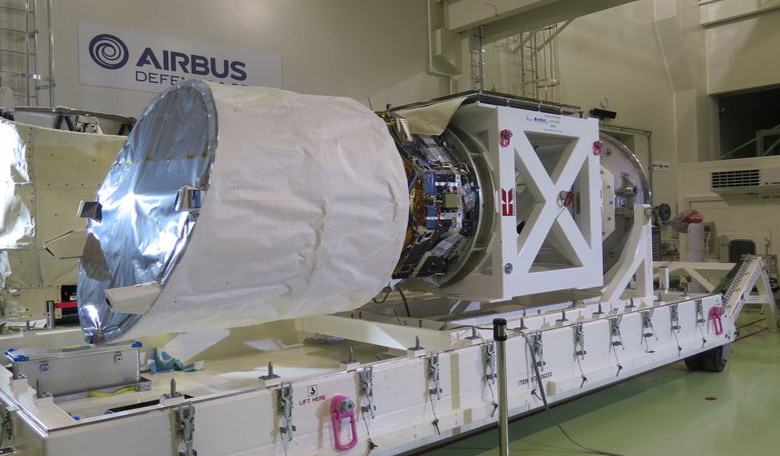 Aladin – the Doppler wind lidar to be carried on the Aeolus satellite (Aeolus is named after a mythical Greek figure who was appointed 'keeper of the winds' by the Gods). Image: Airbus Defence and Space
