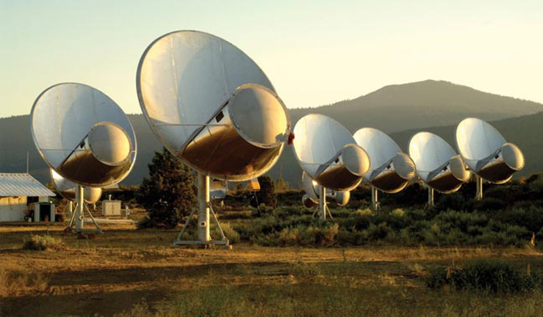 The SETI Institute's Allen Telescope Array at Hat Creek Observatory about 290 miles northeast of San Francisco, California. Image: SETI