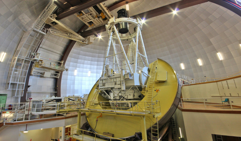 The 3.9 metre Anglo-Australian Telescope located at Siding Spring Observatory in NSW. Image: Angel Lopez-Sanchez/AAO