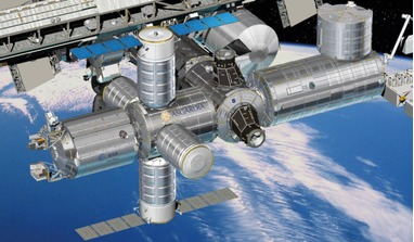 Asgardia module node on the Space Station. Image: ROOM/D Ducros