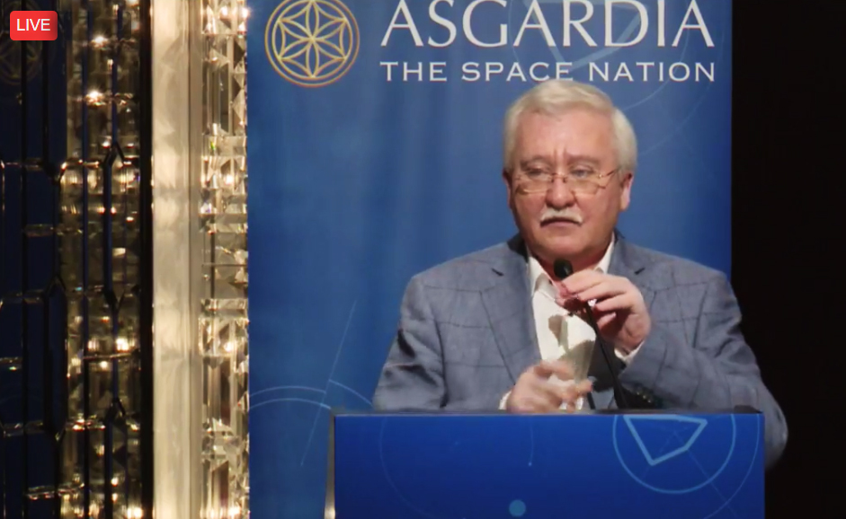 Dr Igor Ashurbeyli at the Asgardia press conference in Hong Kong.