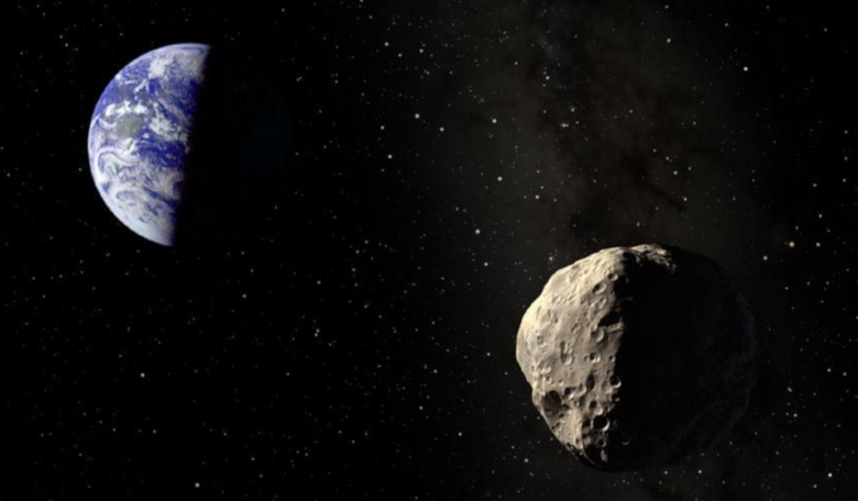 Artist's rendering of an impending asteroid impact with Earth.