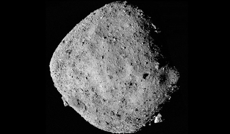 This mosaic image of asteroid Bennu is composed of 12 PolyCam images collected on 2 December by the OSIRIS-REx spacecraft from a range of 24 kilometres. Image: NASA/Goddard/University of Arizona