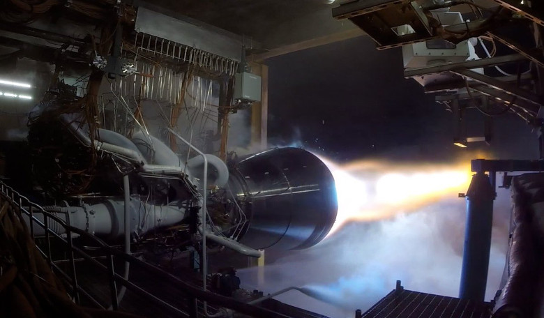 Blue Origin Successfully Test Fires a BE-4 Rocket Engine