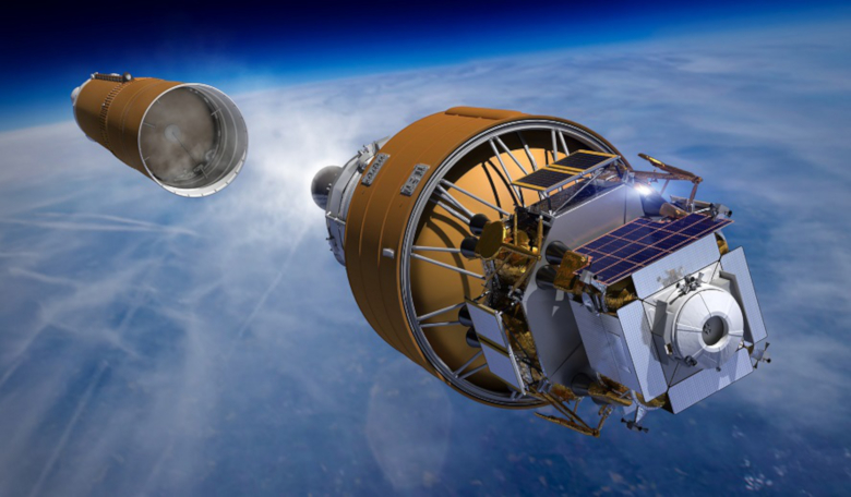 Boeing's Human Lander System heads into orbit on the strength of a Space Launch System rocket in this artist concept. Image: Boeing