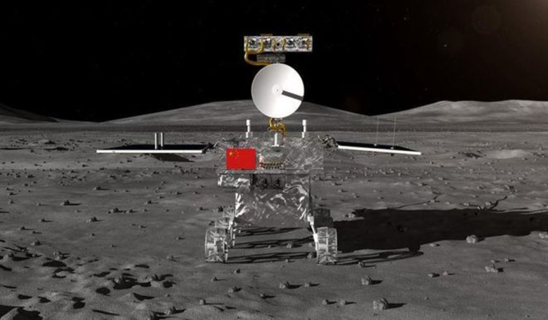 An artist's rendering of the Chang'e-4 rover which will explore a huge impact basin on the far side of the Moon. Image: CNSA