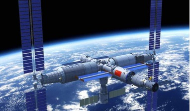 An artist impression of the Chinese Space Station. 18 new Chinese astronauts have been selected to join the project. Image: CMSA