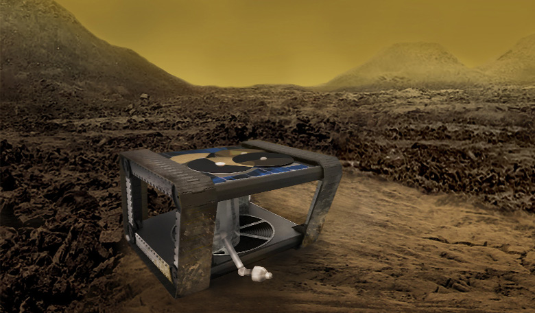 AREE; a clockwork rover inspired by mechanical computers. A JPL team is studying how this kind of rover could explore extreme environments, like the surface of Venus. Image Credit: NASA/JPL-Caltech