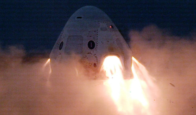 SpaceX's Crew Dragon spacecraft blasting off. Image: SpaceX