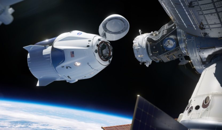 The first operational Crew Dragon mission to the ISS will carry three NASA astronauts and one JAXA astronaut. Image: NASA
