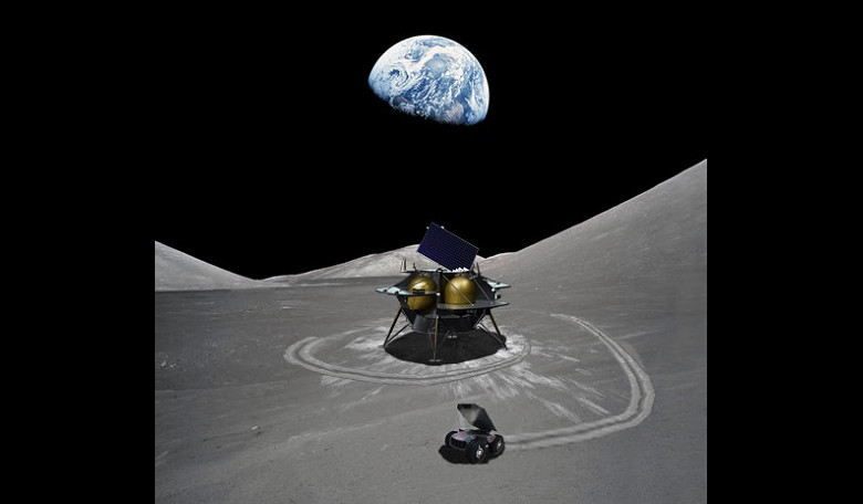 CubeRover on the moon. Image: Astrobotic