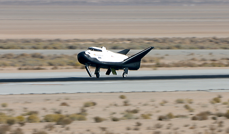 Dream Chaser had a successful free flight test in November 2017. Image: SNC/NASA
