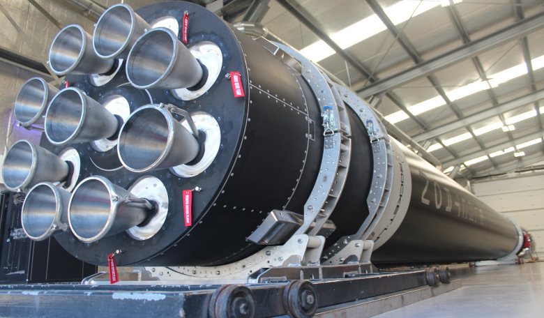 Rocket Lab's Electron Rocket. Recent additional performance improvements from its Rutherford engines now means that the rocket will be capable of interplanetary missions. Image: Rocket lab