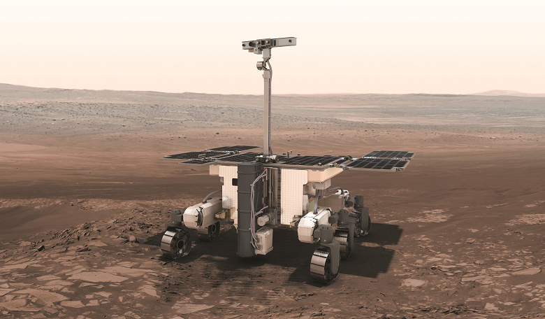 An artist's depiction of the ESA's ExoMars rover Rosalind Franklin. The rover which was due for launch in July 2020 will now head to the Red Planet in 2022. Image: ESA/ATG medialab