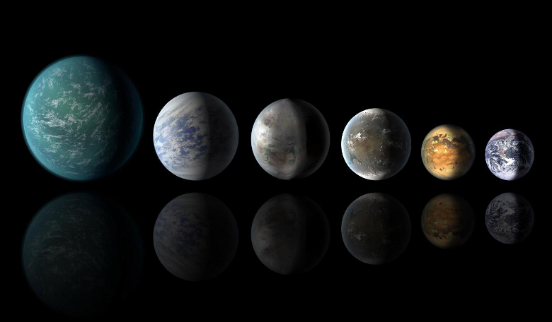 An artists concept of exoplanets similar to Earth. Image: NASA