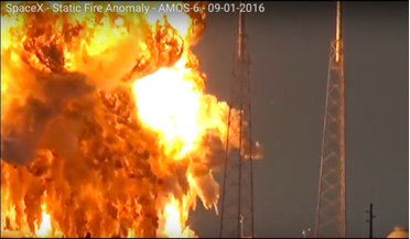 Amos-6, explosion, Falcon 9, Iridium, Spacecom, SpaceX, test-masses