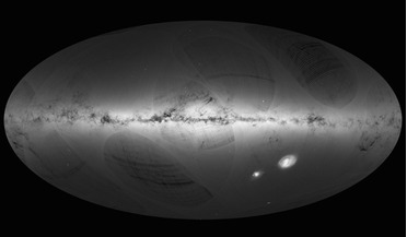 3D Galaxy Map, ESA, Gaia mission, Large and Small Magellanic Clouds, Milky Way