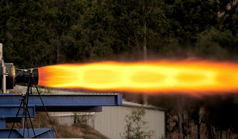 Gilmour Space Technologies rocket fire test
