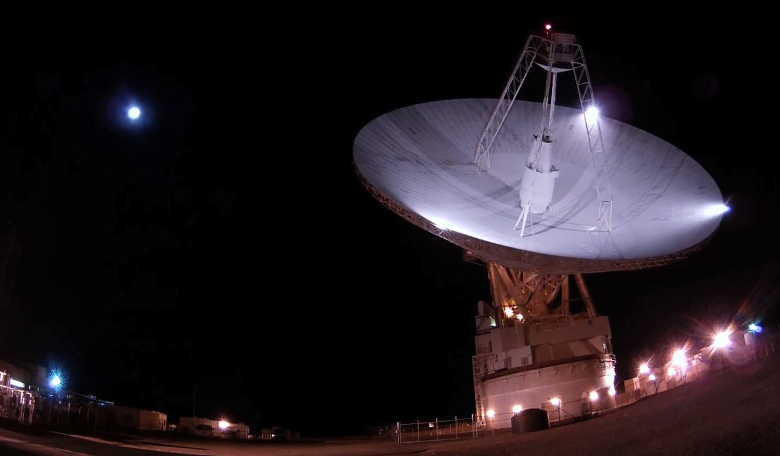 DSS-14, NASA's 70-meter antenna located at the Goldstone Deep Space Communications Complex in California, also known as the