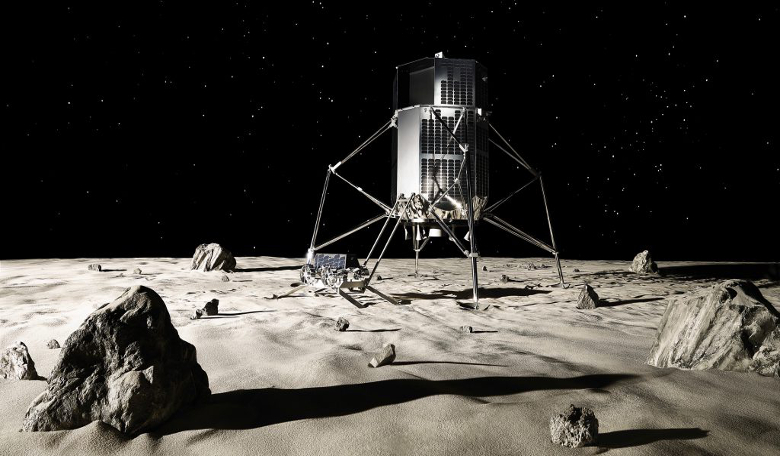 The latest HAKUTO-R Lander and Rover design. Image: ispace