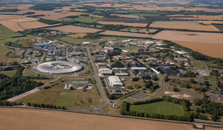 Ariel view of the Harwell Space Cluster in Oxford, UK.