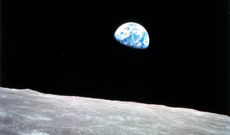 The iconic Earthrise photograph taken from lunar orbit by astronaut William Anders on 24 December, 1968, during the Apollo 8 mission. Image: NASA