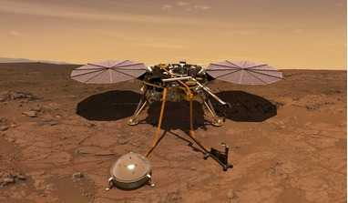 Artist impression of the InSight lander on the martian surface. Image: NASA