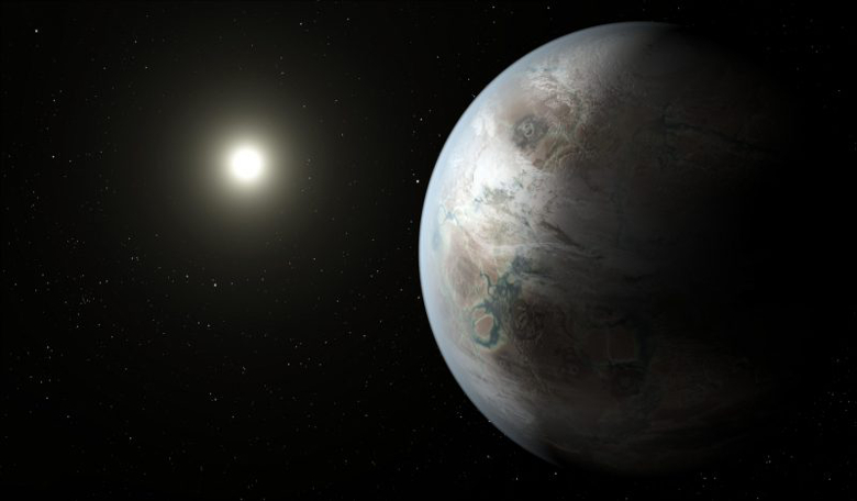 An artists impression of Kepler 452b - Earth's 'cousin.' Image: NASA