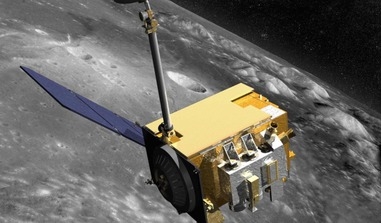An artist's rendering of NASA's Lunar Reconnaissance Orbiter (LRO) spacecraft that has helped scientists find higher abundances of metal in lunar craters than previously thought existed. Image: NASA