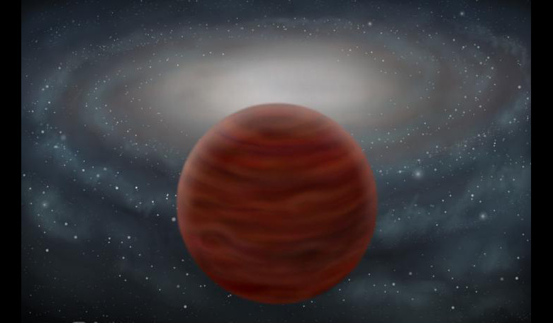 An artist's impression of the new pure and massive brown dwarf found by astronomers in the outermost reaches of our Galaxy. Image: John Pinfield