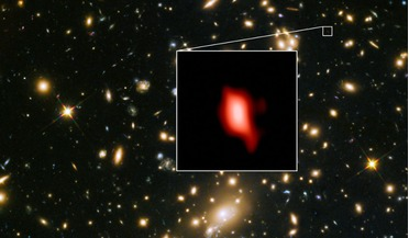 Atacama Large Millimeter/submillimeter Array (ALMA), cosmic dawn, European Southern Observatory's Very Large Telescope (VLT), Hubble Space Telescope, MACS1149-JD1