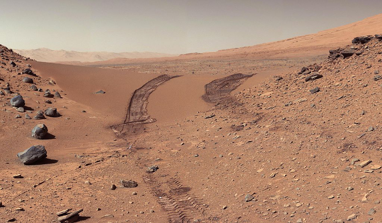 A view of the martian surface as seen by Curiosity. Image: NASA/JPL-Caltech/MSSS