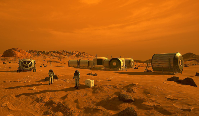 Artist concept of the first humans on Mars. Image: Wikipedia
