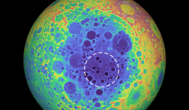 far side of the Moon, NASA's Gravity Recovery and Interior Laboratory (GRAIL) mission, NASA's Lunar Reconnaissance Orbiter (LRO), South Pole–Aitken basin