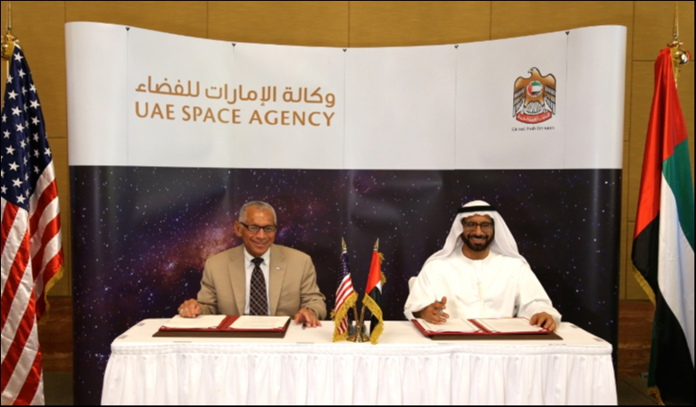 NASA and UAE signing formal agreement. Image: NASA