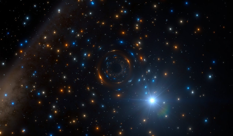 Loneliest Black Hole Hides Inside Globe of Stars