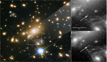 gravitational lensing, Hubble Space Telescope, Lensed Star 1 (LS1), MACS J1149-2223, Refsdal supernova