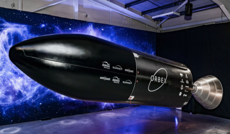 A prototype of Orbex's Stage 2 rocket, the stage that will transit into orbital flight after launch. Image: Orbex
