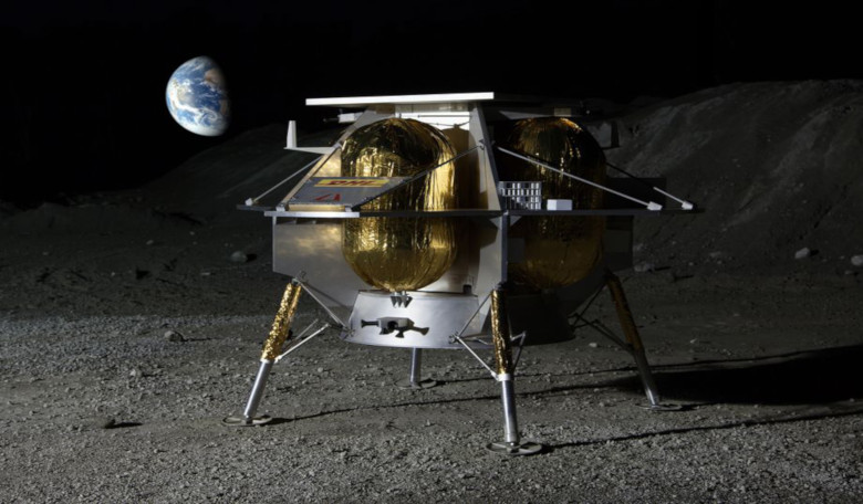 Astrobotic's Peregrine lunar lander is set to land on the Moon in 2021 with as many as 14 payloads - one of which will be from Spacebit. Image: Astrobiotic