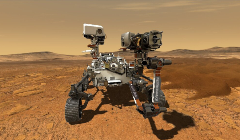 The six-wheeled robot, which is about the size of an SUV and weighs 1,040 kilograms, is NASA's fifth Mars rover and its most advanced to date. Image: NASA