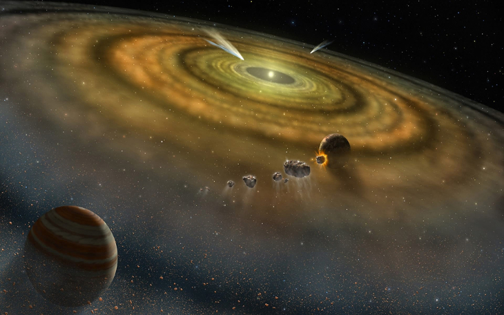 Artists impression of a protoplanetary disk in the early stages of formation. Image: NASA/FUSE/Lynette Cook