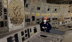 An image of inside the Chernobyl nuclear plant where radiation-loving fungus was discovered in 1991. Image: YouTube/bionerd23