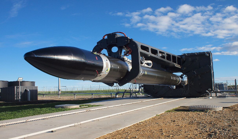 Rocket Lab's orbital-class launch vehicle Electron at Launch Complex 1, Mahia Peninsula, New Zealand
