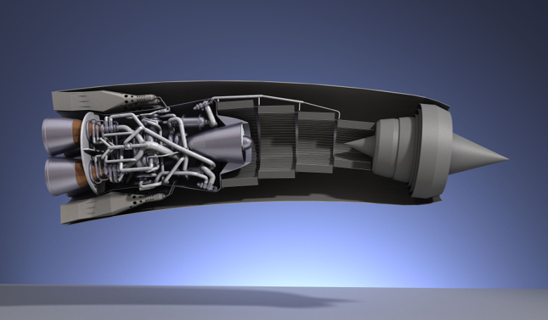 Image depicting a cutaway of the SABRE engine. Image: Reaction Engines Ltd