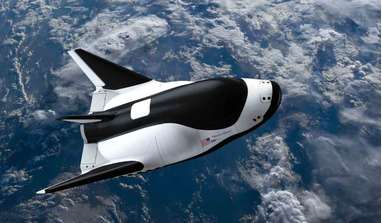 A rendering of SNC's Dream Chaser which could launch as soon as 2022. Image: SNC