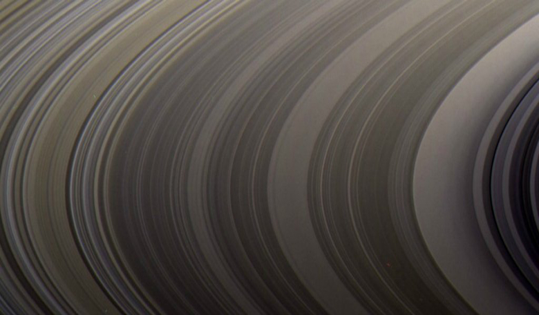 A close-up of Saturn's rings taken by Cassini. Image: NASA/JPL