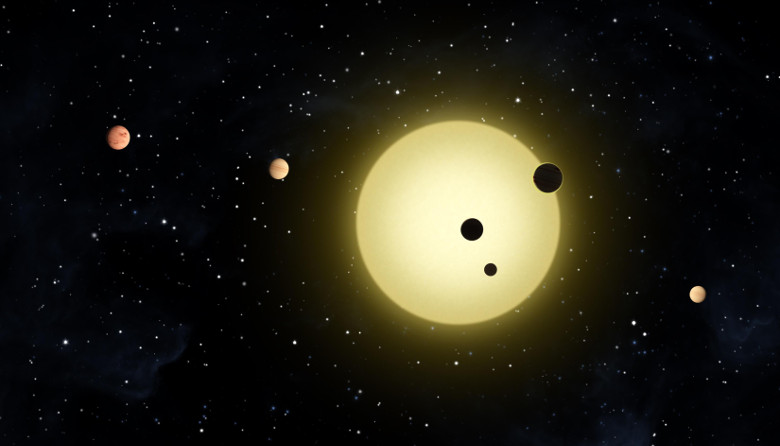 Artist's conception of a multi-planet system. Image: NASA/Tim Pyle
