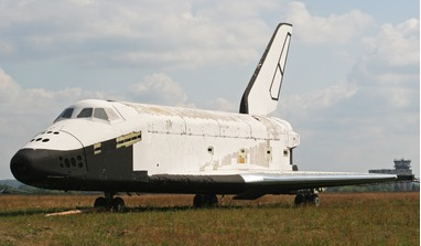 The 2.01 Buran-class spacecraft.  This was the third Buran-class orbiter to be produced as part of the Soviet/Russian Buran programme, however its construction was not complete when the programme was cancelled. Image: wikimedia