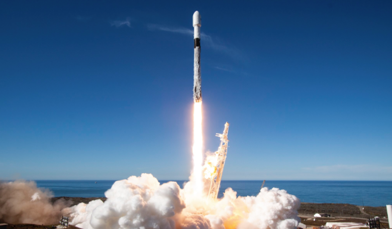 SpaceX's 19th launch in 2018 saw a successful third-time used Falcon 9 launch 64 payloads to orbit for the Spaceflight SSO-A: SmallSat Express mission. Image: SpaceX